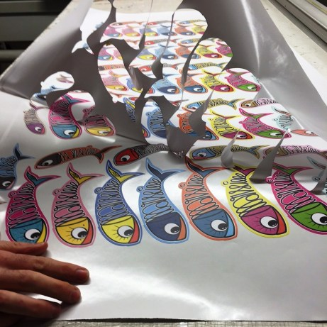 Stickers Multicolor Sardine of Marseille