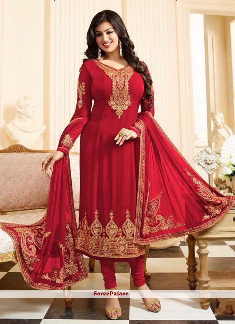 Buy Ayesha Takia Embroidered Work Churidar Designer Suit