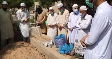 سینیئر ذاکر سیّد افضال حسین زیدی صاحب کو کلمہ طیبہ کے ورد میں سپرد خاک کردیاگیا.
