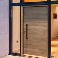 Jual Pintu Papan Minimalis Rumah Modern Kayu Jati Merbau Bengkirai