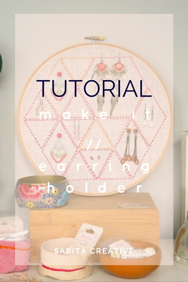 DIY Embroidery Hoop Earring Holder