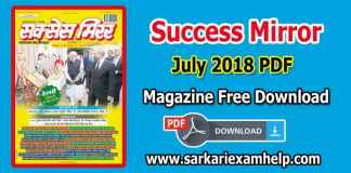 Success Mirror (सक्सेस मिरर) July 2018 PDF Magazine Free Download in Hindi