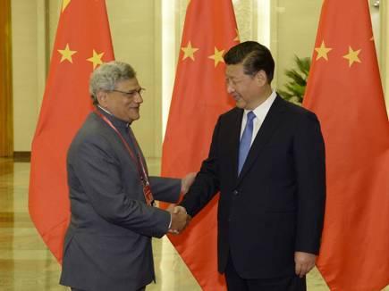 CPI (M) General Secretary Sitaram Yechury calls on the President of China X