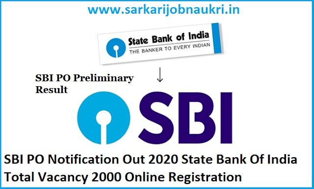 SBI PO Result 2020-Preliminary Officers Exam Result
