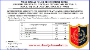 WB Police Recruitment 2021 For 1251 Wireless Operator Posts Apply Online