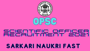 OPSC Scientific Officer