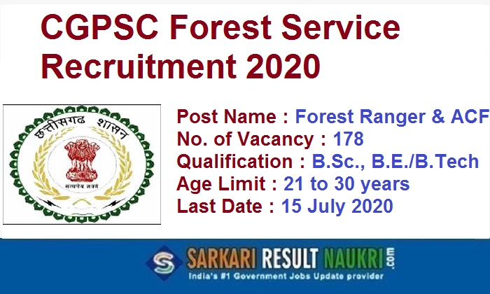 CGPSC Forest Service Recruitment 2020