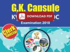 General Awareness Capsule For SSC, Railway, IBPS PDF Download 2018