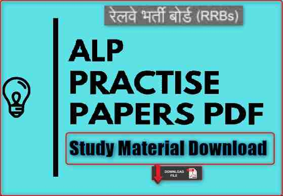 ALP Practice Set PDF RRB alp cbt -2 Platform alp PDF Download