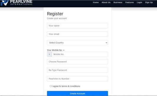 Pearlvine Registration