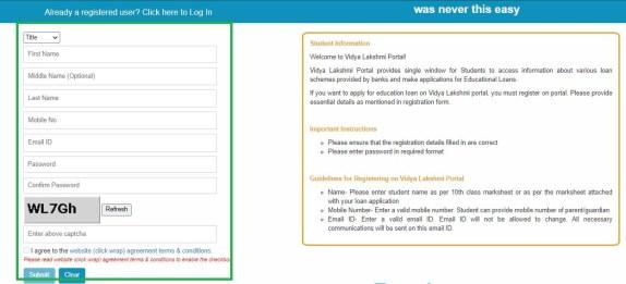 Vidya Lakshmi Registration Form
