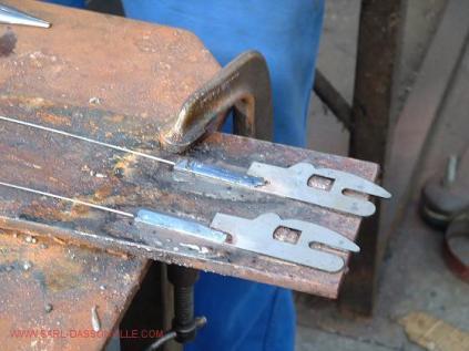Récupérations du fil sur un talon modifié