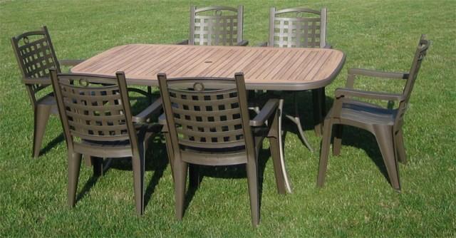 table de jardin pvc grosfillex modele