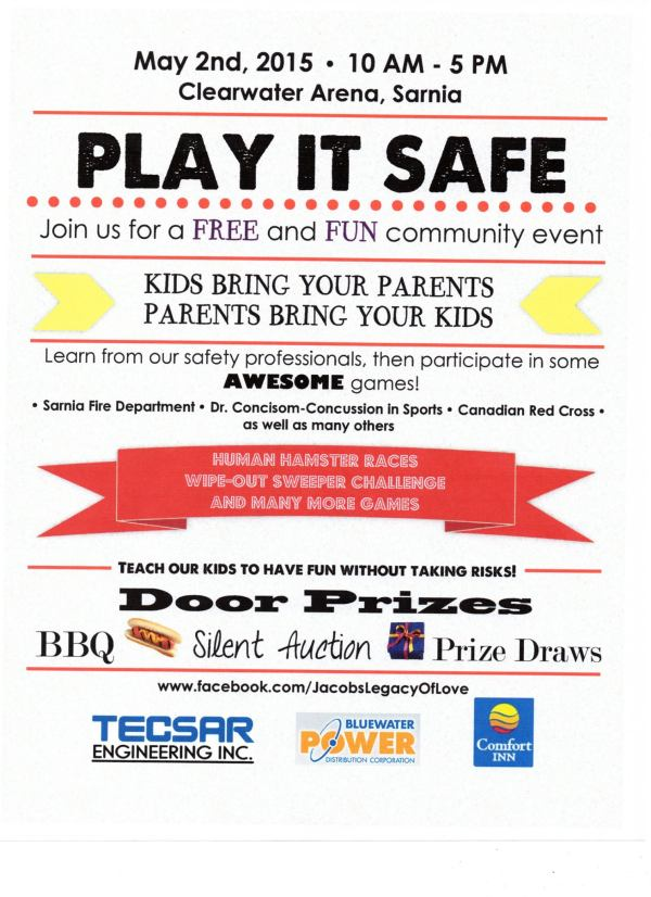 Jacob's Legacy of Love Play It Safe Day 2015