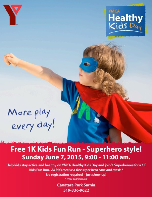 Sarnia-Lambton YMCA Kids Fun Run 2015