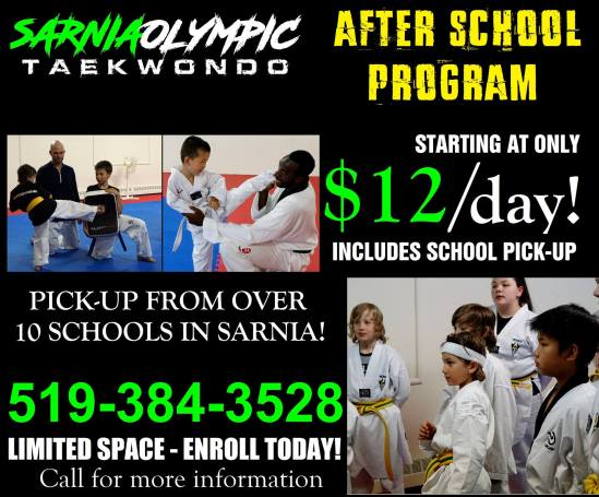 Sarnia Olympic Taekwondo After School Program
