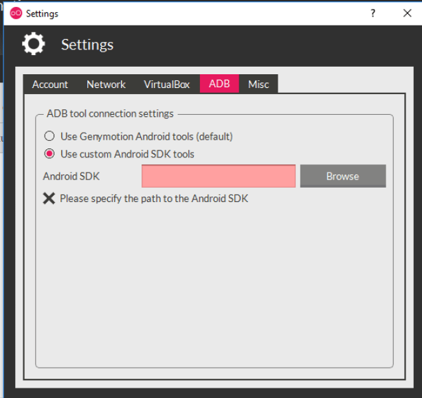 Connect to Genymotion Android emulator remotely - Sarpex