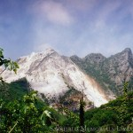 mountains of Carrara rise majestically