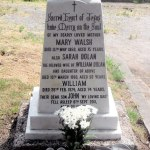 Original memorial stone white marble engraved with family names