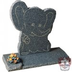 elephant character headstone for child