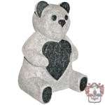 3d teddy gravestone grey