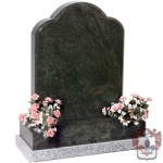 large traditional shape with vases gravestone