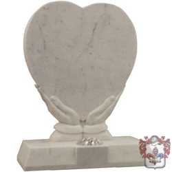 white heart shaped memorial
