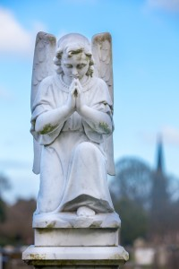 angel praying gravestone