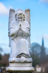 angel praying gravestone