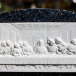 The last supper relief gravestone