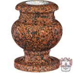 Traditional brown marble urn type vase