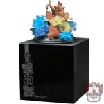 chunky square heavy granite vase