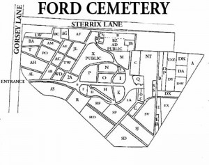 Map of Ford Cemetery