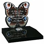 Butterfly design memorial tablet, this can be altered into a full size memorial