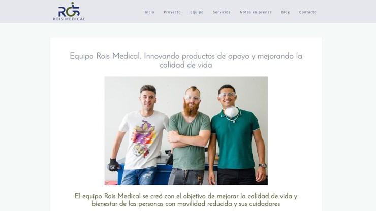 Creación de contenidos web y diseño web corporativa en Elx para Rois Medical