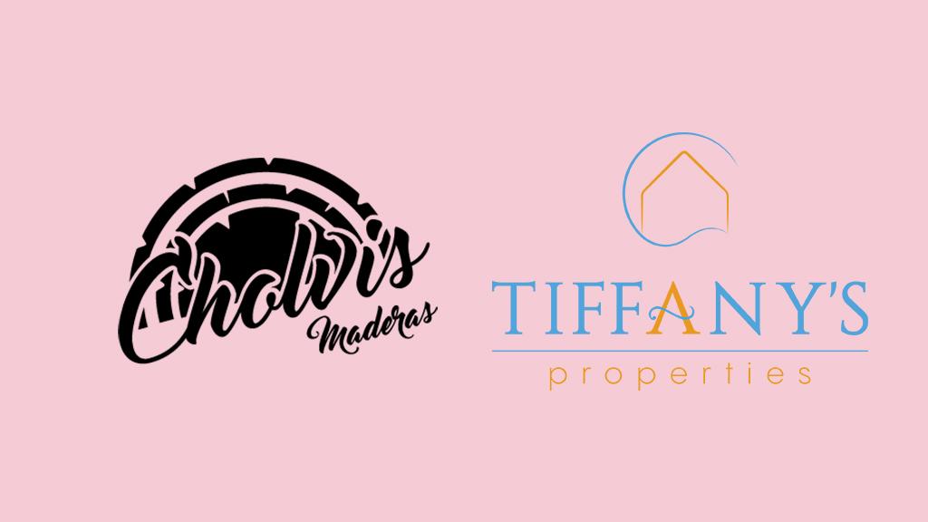 diseño de logotipos en El Campello - carpintería cholvis e inmobiliaria Tiffany's