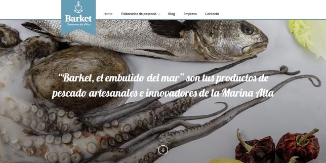 """Diseño web corporativa en la Marina Alta para AMMA – """"Barket, el embutido del mar"""""""