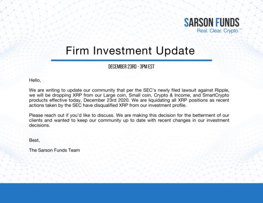 XRP Investment Update