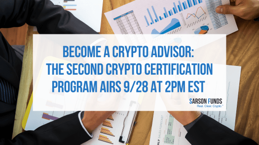 Crypto Advisor certification