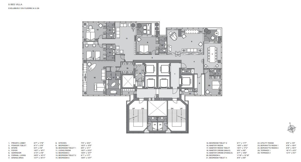 Villa Lodha Altamount Floor Plans Call 9958959555 Property