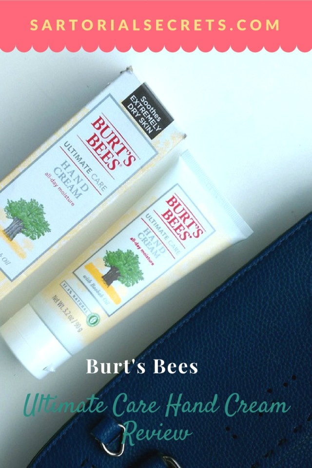 Burt's Bees Ultimate Care Hand Cream Review