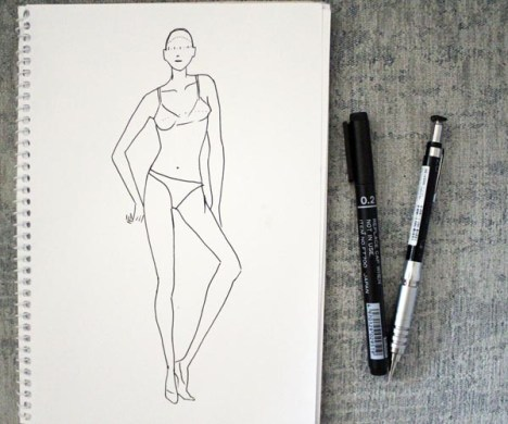 fashion croquis Archives   SarvinStyle draw female fashion figure