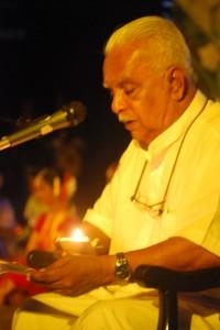 Group meditation by Dr. AT Ariyaratne