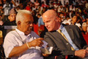 Dr. AT Ariyaratne with Mr. Toole