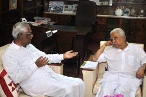 Dr. AT Ariyaratne and Mr. Mariyappan