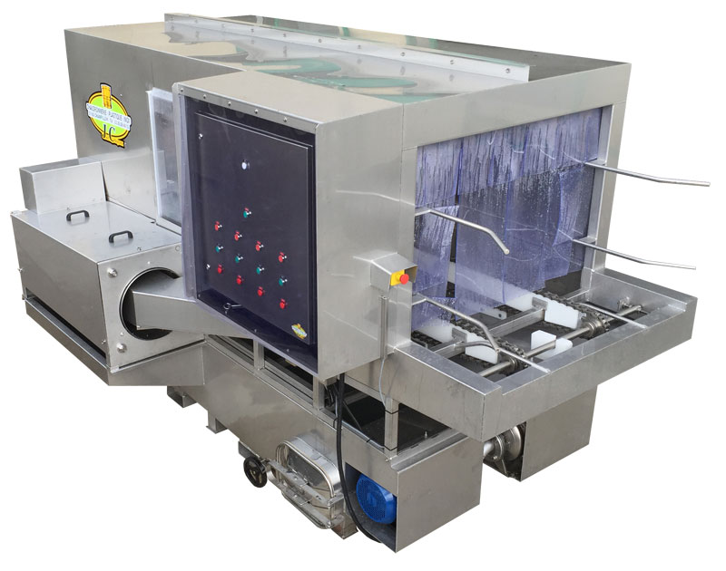 Laveuse de palox, construction en acier inoxydable - linéaire