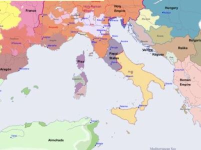 Maps of Italy 1200 1200