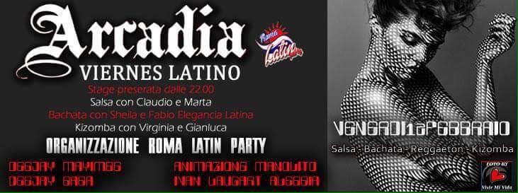 Arcadia: Viernes Latino!