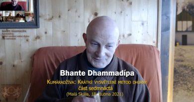 Bhante Dhammadípa: 17. Kumáradžíva – Krátké pojednání o metodách dhjány