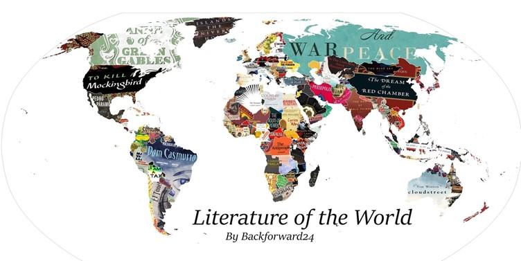 تعرف إلى الخريطة الأدبية الأحدث للعالم حتى الآن ساسة بوست